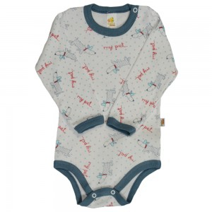 Body Infantil Manga Longa Baby Duck Estampado - My Pet