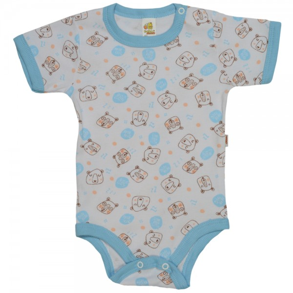 Body Bebê Manga Curta Baby Duck Estampado - Bear